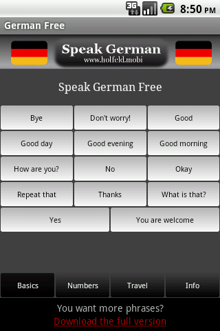 Learn how to speak in german for free