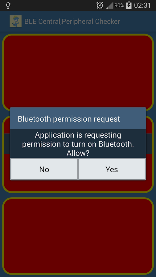 BLE Central,Peripheral Check- screenshot