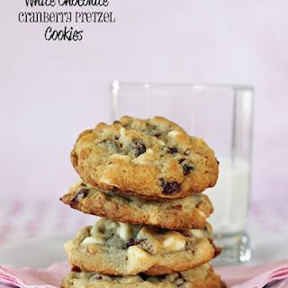 White Chocolate Cranberry Pretzel Cookies (Jumbles)