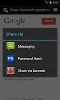 Screenshot of Password Hash