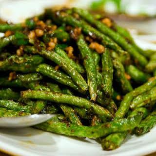 Sichuan Dry-Fried Long Beans.