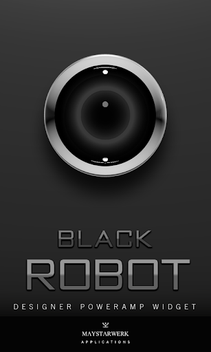 Poweramp Widget Black Robot
