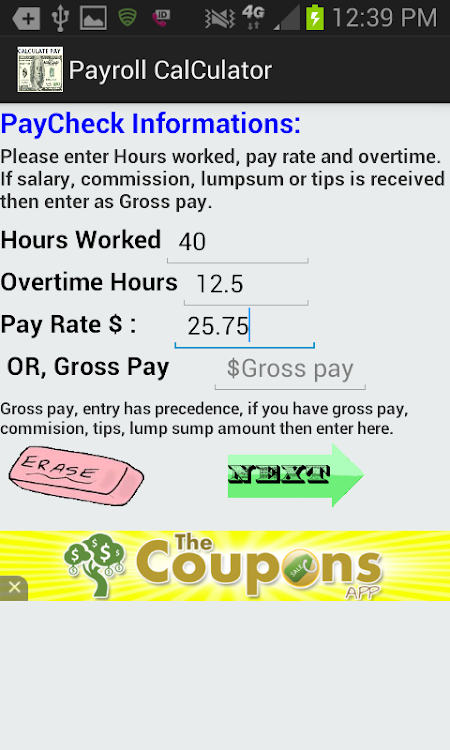 accurate paycheck calculator 10 0 android apps appagg com