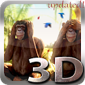 Three Wise Monkeys 3D icon