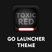 Toxic Red Go Launcher Theme