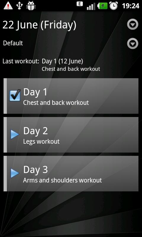 Gym Book: training notebook* - screenshot