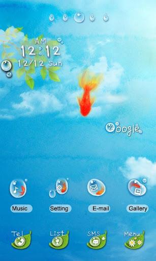CUKI Theme Fish In Blue Sky