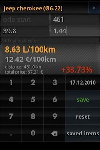 fuel calculator mileage free - screenshot thumbnail