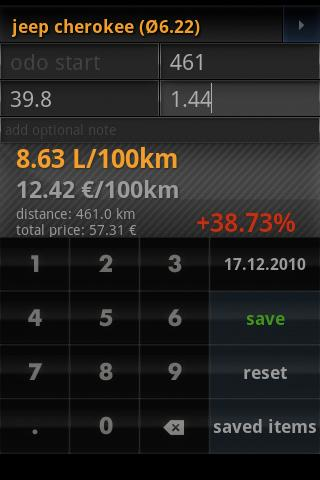 fuel calculator mileage free - screenshot