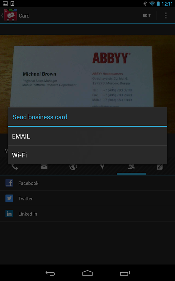 Business Card Reader Pro Android Apps on Google Play
