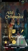Screenshot of Acta Orthopaedica