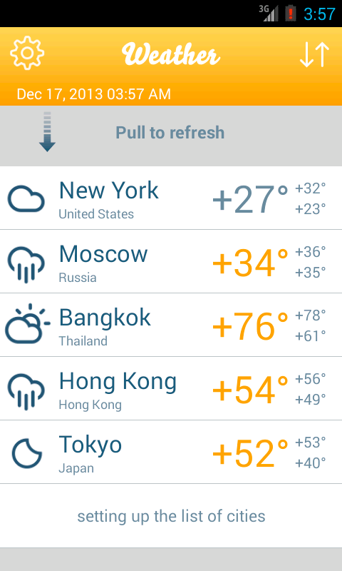 Weather Forecasts- screenshot