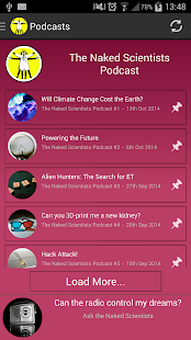 The Naked Scientists App- screenshot thumbnail