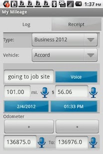 My Mileage Log & Expense - screenshot thumbnail