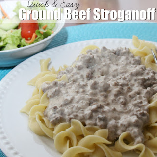 Quick & Easy Ground Beef Stroganoff.