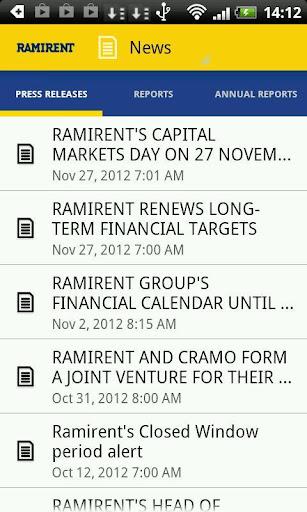 Ramirent Investor Relations