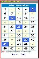 Screenshot of Euro Millions Lotto Suite