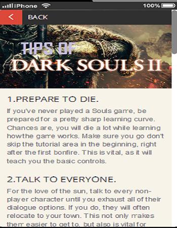 Tips of Dark Souls 2
