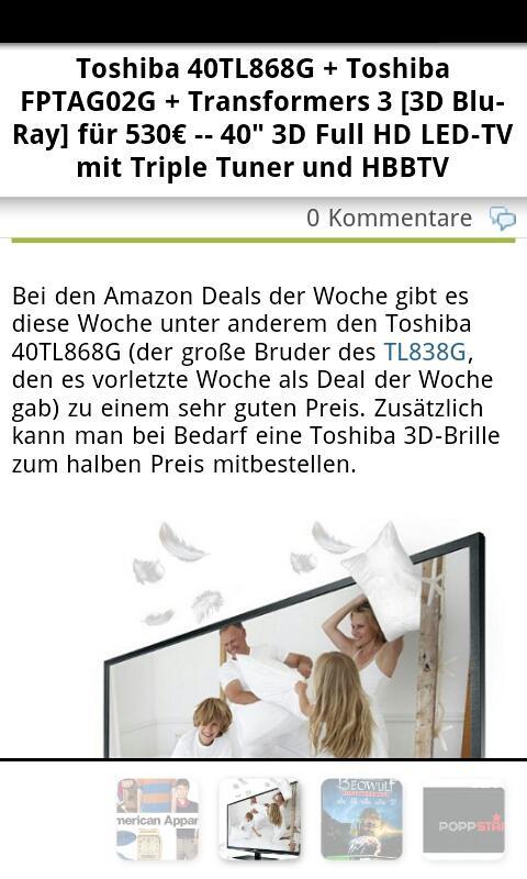 SparBlog.com – Schnäppchen App - screenshot