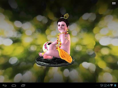 3d Little Krishna Live Wallpaper Apprecs