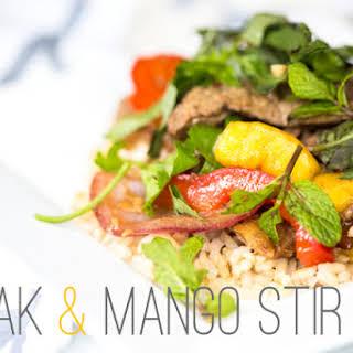 Steak & Mango Stir-Fry.
