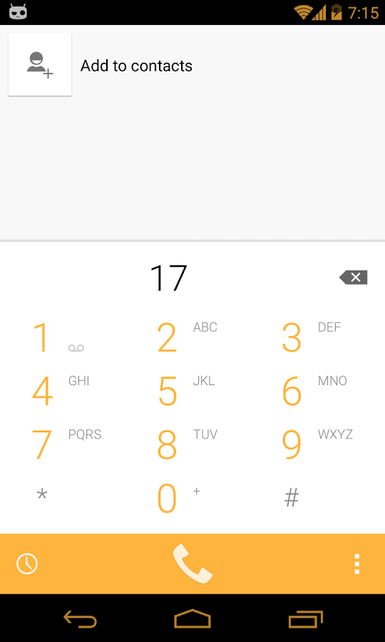 Yellow Gold CM11 theme - screenshot
