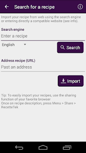 Cookbook Recipes : RecetteTek - screenshot thumbnail