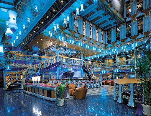 Carnival-Miracle-Metropolis-Atrium-Bar - Enjoy the cool ocean vibe of the Metropolis Atrium Bar when you sail on Carnival Miracle.