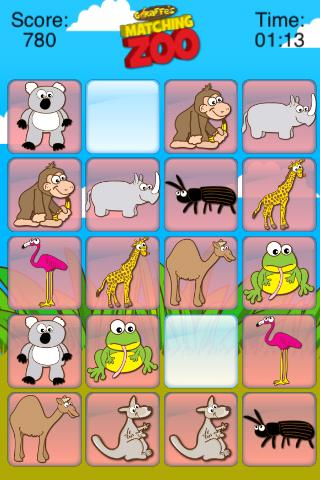 Giraffe's Matching Zoo- screenshot