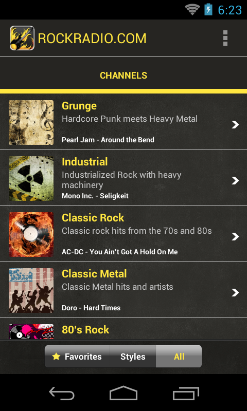 Rock Radio - screenshot