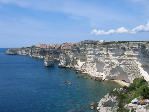 Bonifacio-France-cliffs - The dramatic cliffscape of Bonifacio, France, seen during a SeaDream cruise.