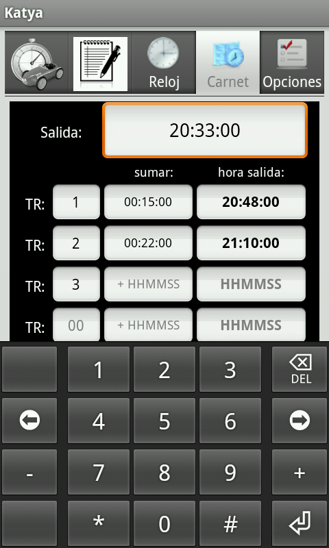 Katya (rallys regularidad)- screenshot