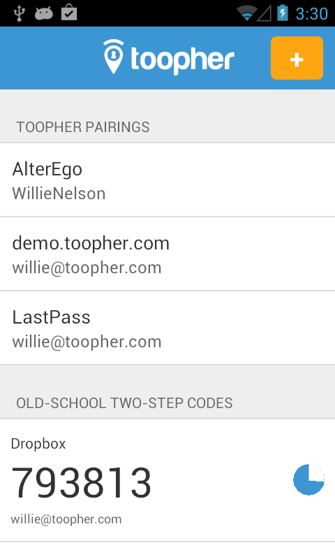 Toopher - screenshot