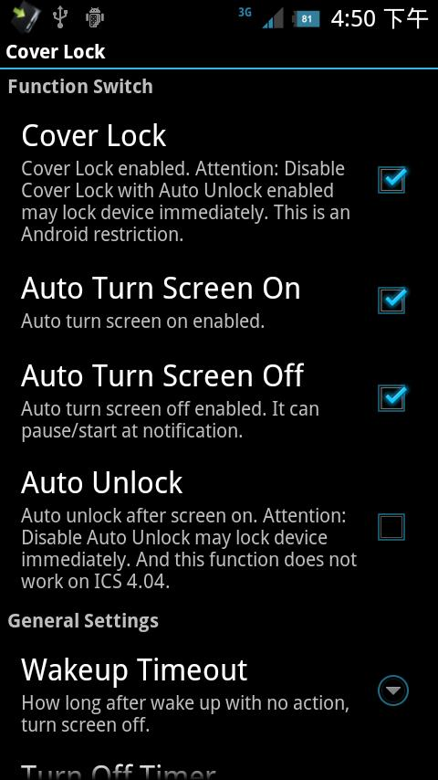 Cover Lock- screenshot