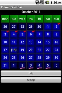Flower calendar (free) - screenshot thumbnail
