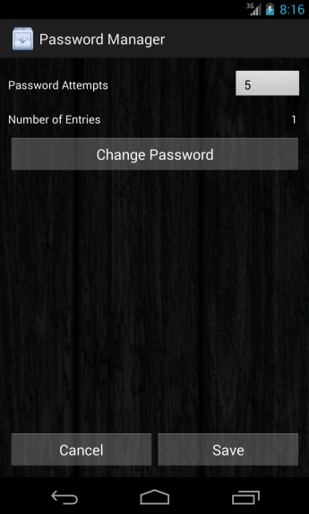 Password Manager- screenshot