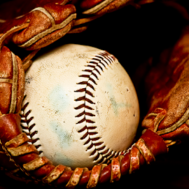 Good Game by Susan Farris - Sports & Fitness Baseball ( ball, baseball, softball, sport, glove, game, leather,  )