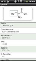 Screenshot of Amino Acid Reference
