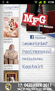 MFG - Das Magazin - screenshot thumbnail