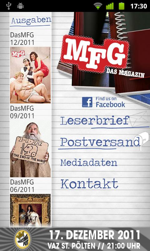 MFG - Das Magazin - screenshot