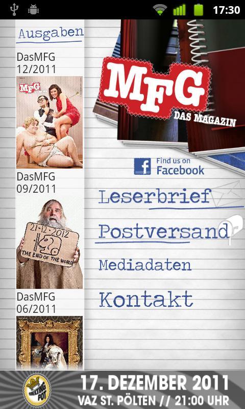 MFG - Das Magazin- screenshot