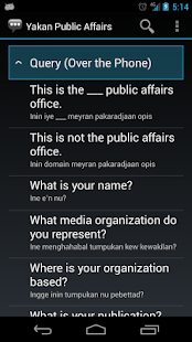 Yakan Public Affairs Phrases - screenshot thumbnail
