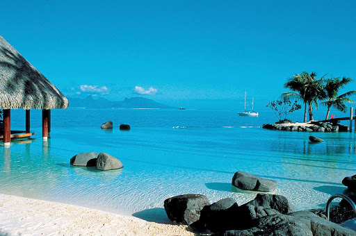 Beach-InterContinental-Tahiti - The InterContinental Resort Tahiti is known for its spectacular beach.