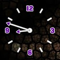 Transparent Clock Pruple icon