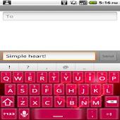 Simple Heart Keyboard Skin