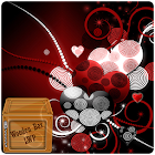 love curly heart sparkle lwp icon