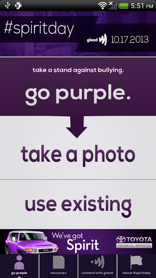 Go Purple for #SpiritDay - screenshot