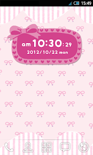 *Lovely* Clock Widget- screenshot thumbnail