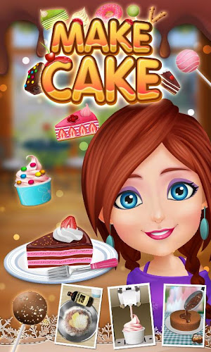 Cake Maker Story -Cooking Game Android App Screenshot