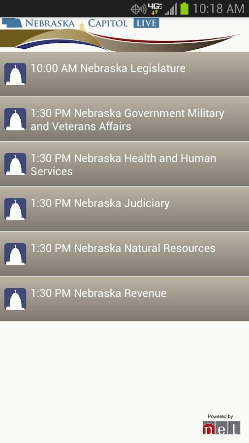 Nebraska Capitol Live - screenshot